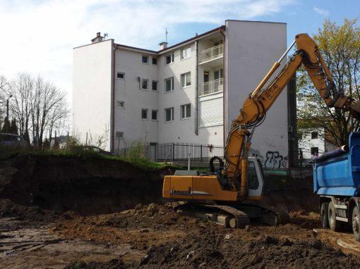 Plac budowy Gdynia Orłowo 2016r.