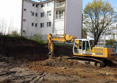Plac budowy pod budynek handlowo-usługowy Gdynia Orłowo