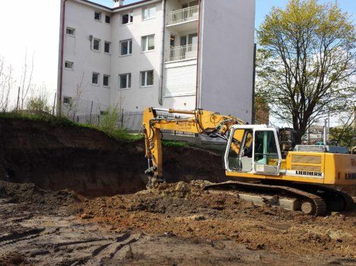 Plac budowy pod budynek handlowo-usługowy Orłowo 2016r.